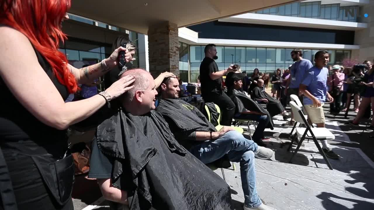 SPS students, teachers shave hair to help cancer patients