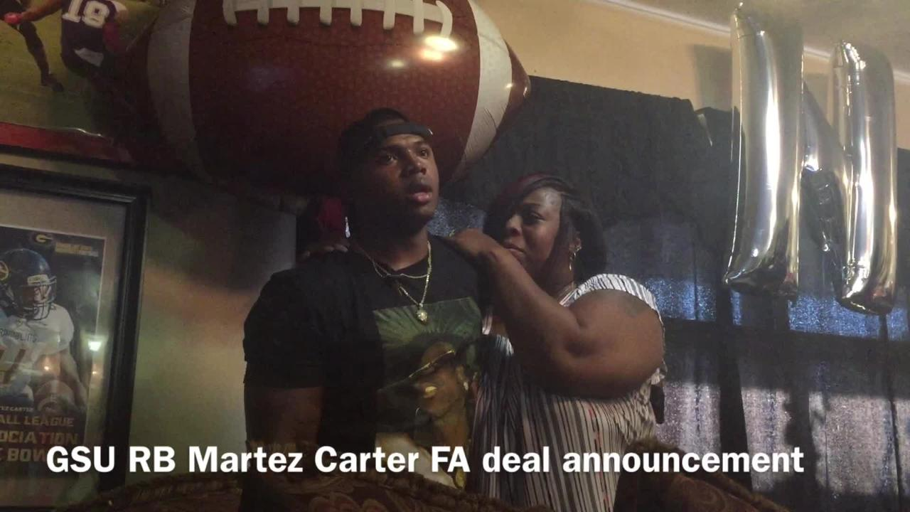 Grambling State running back Martez Carter announces his intent to join the Washington Redskins.