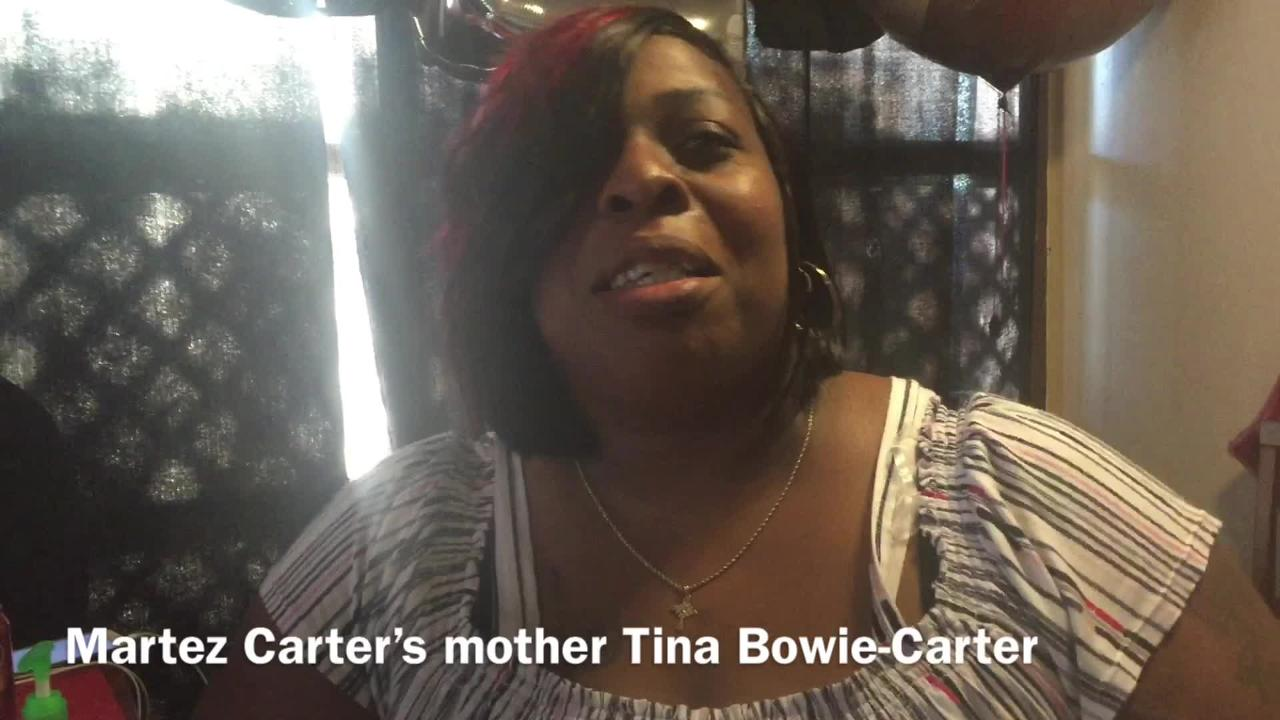Tina Bowie-Carter, mother of Martez Carter, shares her feelings on her becoming an NFL player.