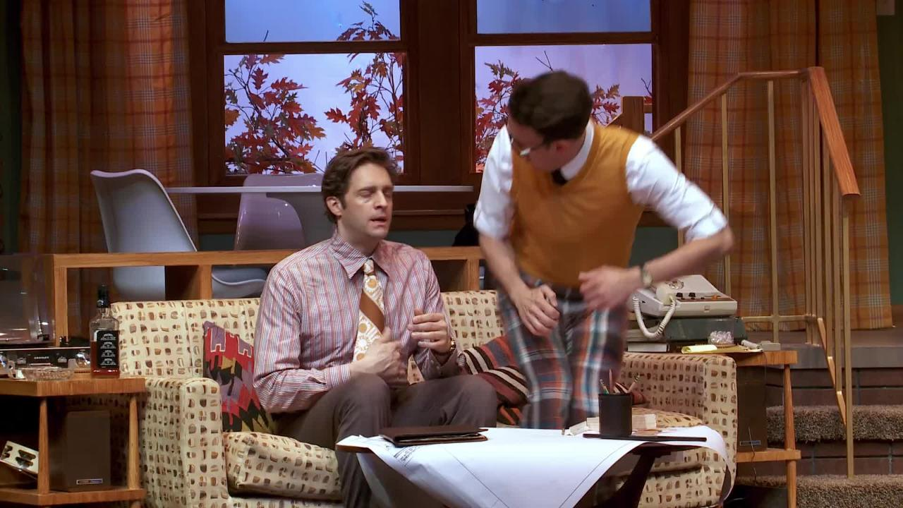 """The Nerd"" is the final play in the first of two seasons at George Street's temporary quarters on College Farm Road on the Rutgers University Campus in New Brunswick."
