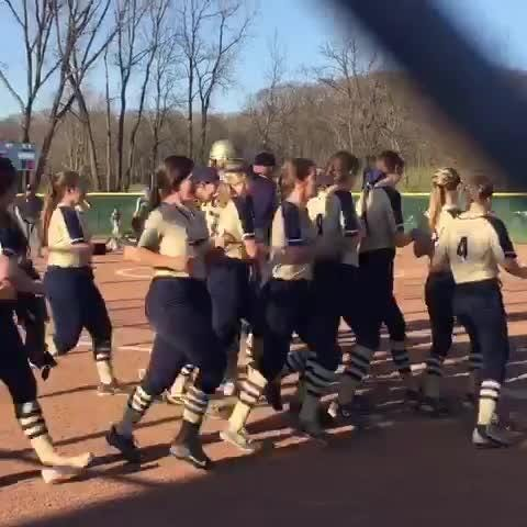 Lancaster senior Alexis Matheney hit her 15th home run of the season. For the year, the Gales have hit a state record 50 home runs.