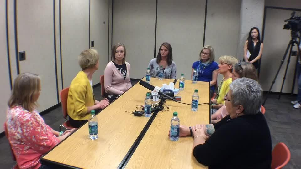 Sen. Tammy Baldwin spoke during a roundtable on addiction held at the Appleton Public Library Tuesday afternoon.