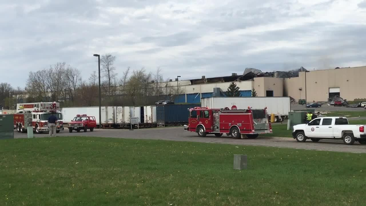 Two people were injured and more than 100 evacuated from Meridian Magnesium Products of America in Eaton Rapids after a fire and series of explosions.