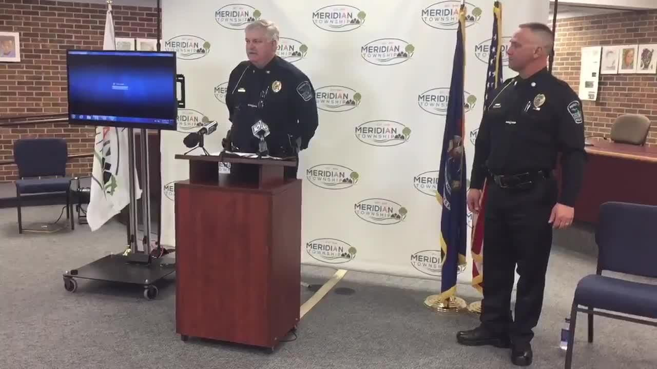 Meridian Township Police Chief David Hall explains May 2 his role in investigation of open sexual assault cases. Status of nearly 600 cases released.