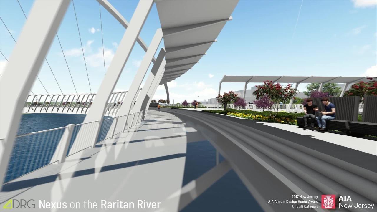 WATCH: Nexus Bridge would suspend a community park over Raritan River