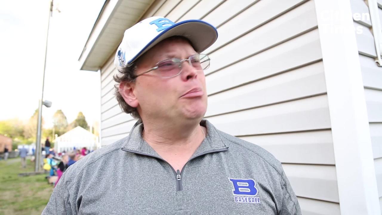Bruce Kelley talks about his son Matthew growing up on the baseball diamond on Brevard's senior night.