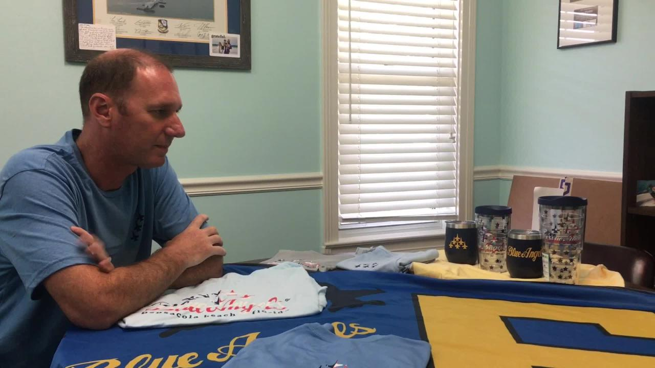 Pensacola's Blue Angels No  6 flag creator sees 'dream come