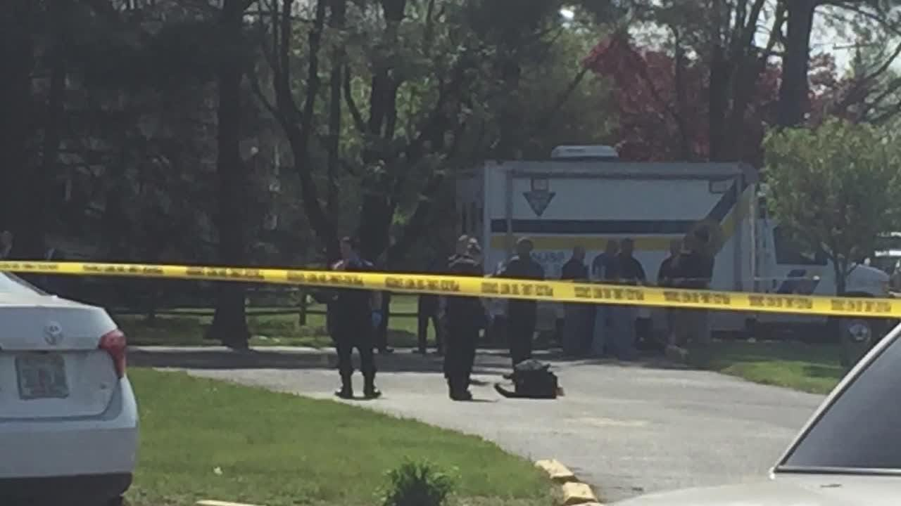 New Jersey State Police and Franklin Township Police on the scene of a reported shooting.