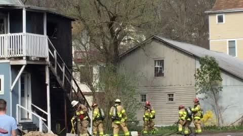 Firefighters extinguished a fire at 115 South Titus Ave. on May 2, 2018.