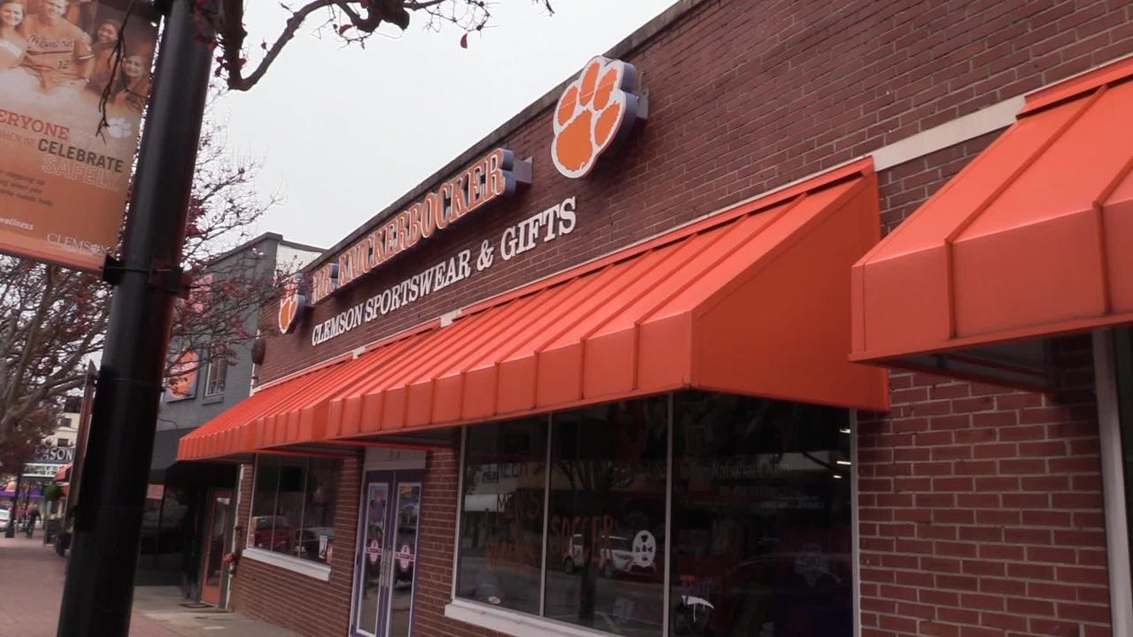 Mr. Knickerbocker has been serving downtown Clemson customers for four and a half decades.