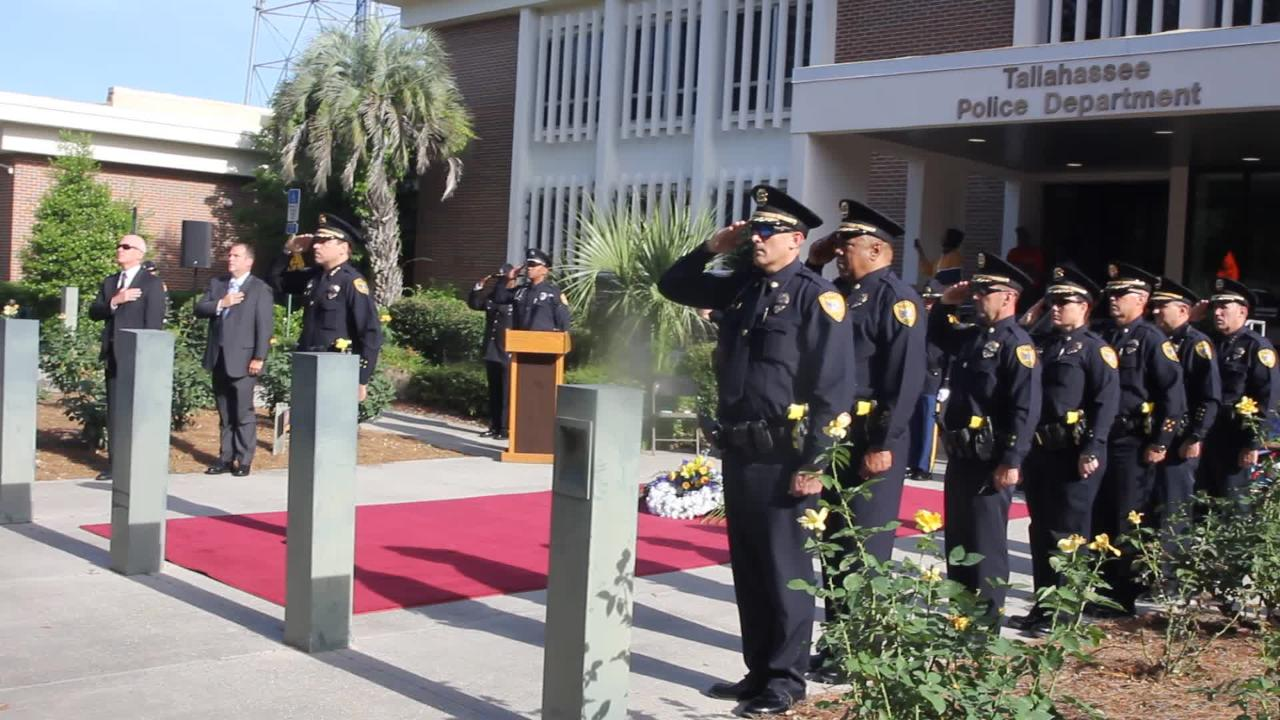 The five Tallahassee Police Department officers killed in the line of duty were honored Thursday.