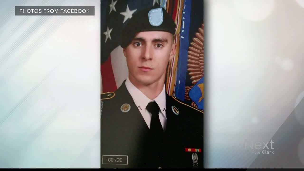 Gabe Conde died Monday when he was killed in action in Afghanistan.