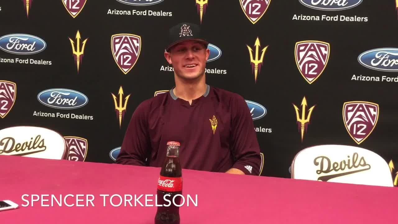 Freshman Spencer Torkelson hit his 22nd home run Friday in ASU baseball's walk off win over Washington