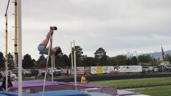 Reed senior Alysia Allen set the stadium and region record in the pole vault when she cleared 12-10 Saturday at Reed.