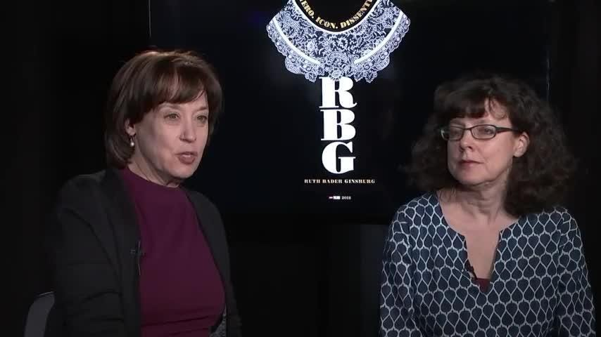The directors of a Ruth Bader Ginsburg documentary called 'RBG' say she's a 'pioneer,' 'groundbreaker' in fighting for women's rights.