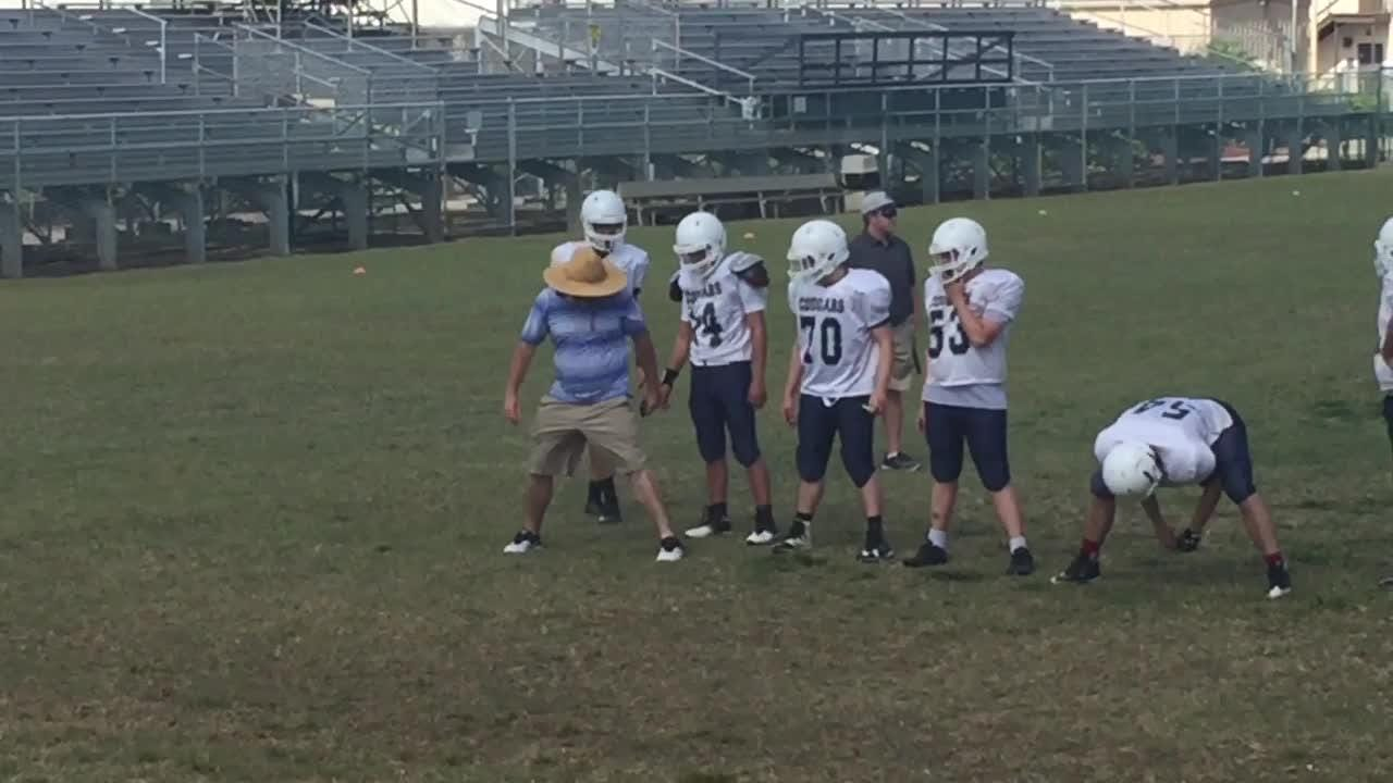 Greg Gage is Merritt Island Christian's first-year head football coach. Video by Brian McCallum. Posted May 6, 2018.
