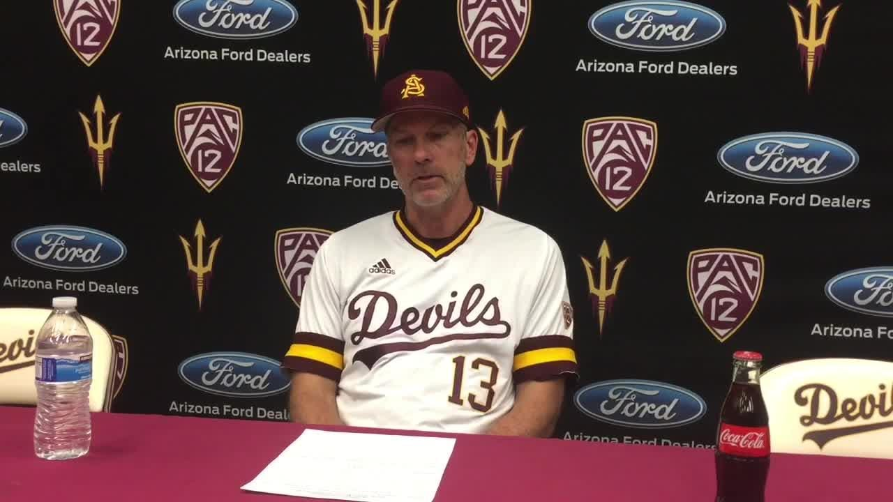 Coach Tracy Smith, pitcher Boyd Vander Kooi on 7-6 loss to Washington in series finale