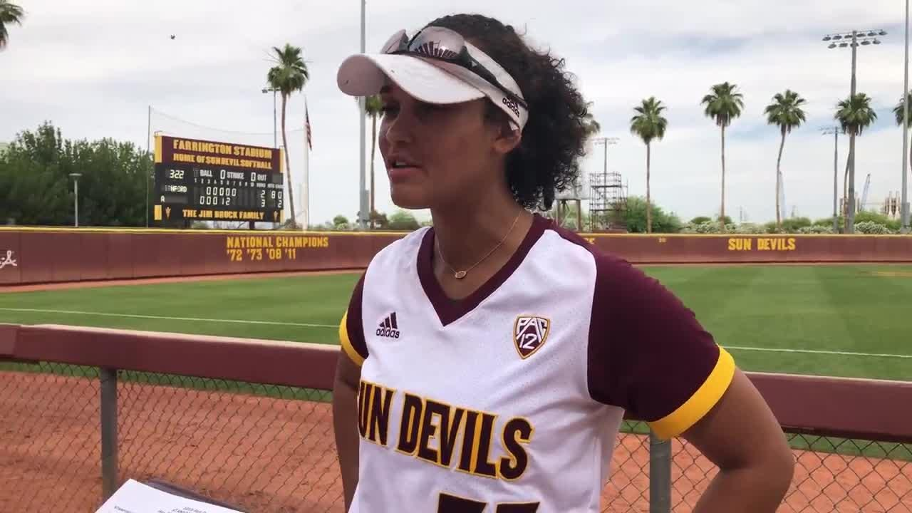 DeNae Chatman talks about her game-winning home run for ASU softball on Sunday.