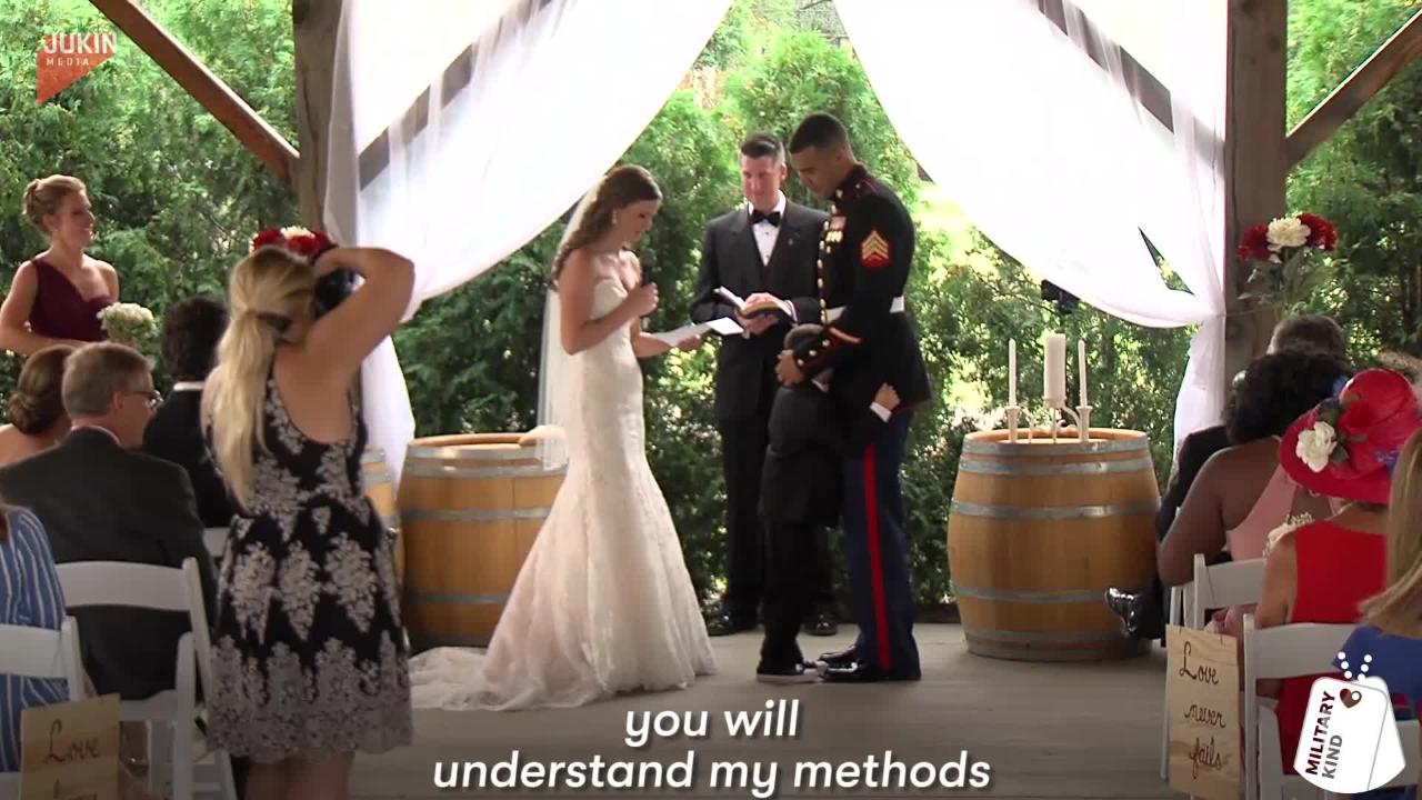This military couple had no idea how deeply the bride's vows to her new stepson would affect him.