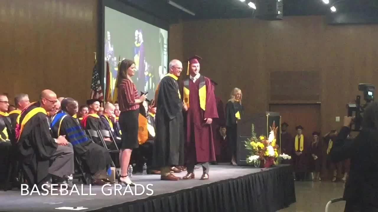 ESPN anchor Matt Barrie tells ASU graduating athletes how he learned Sun Devil way growing up in Scottsdale