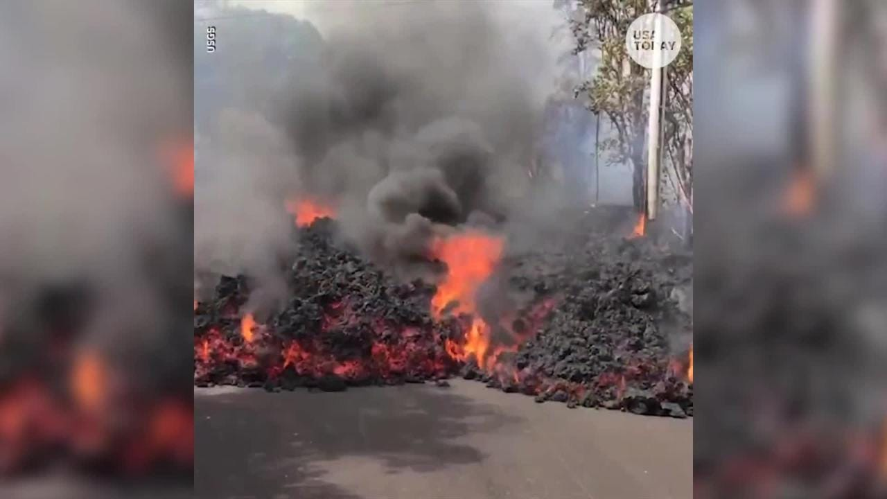 Watch It Wednesday: Fiery lava flows through neighborhoods from the Kilauea volcano that erupted on Hawaii's Big Island