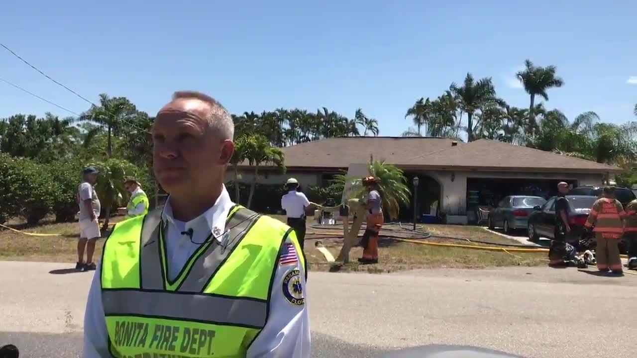 Assistant Chief Greg DeWitt gives more details about the Bonita Springs house fire on May 9, 2018.