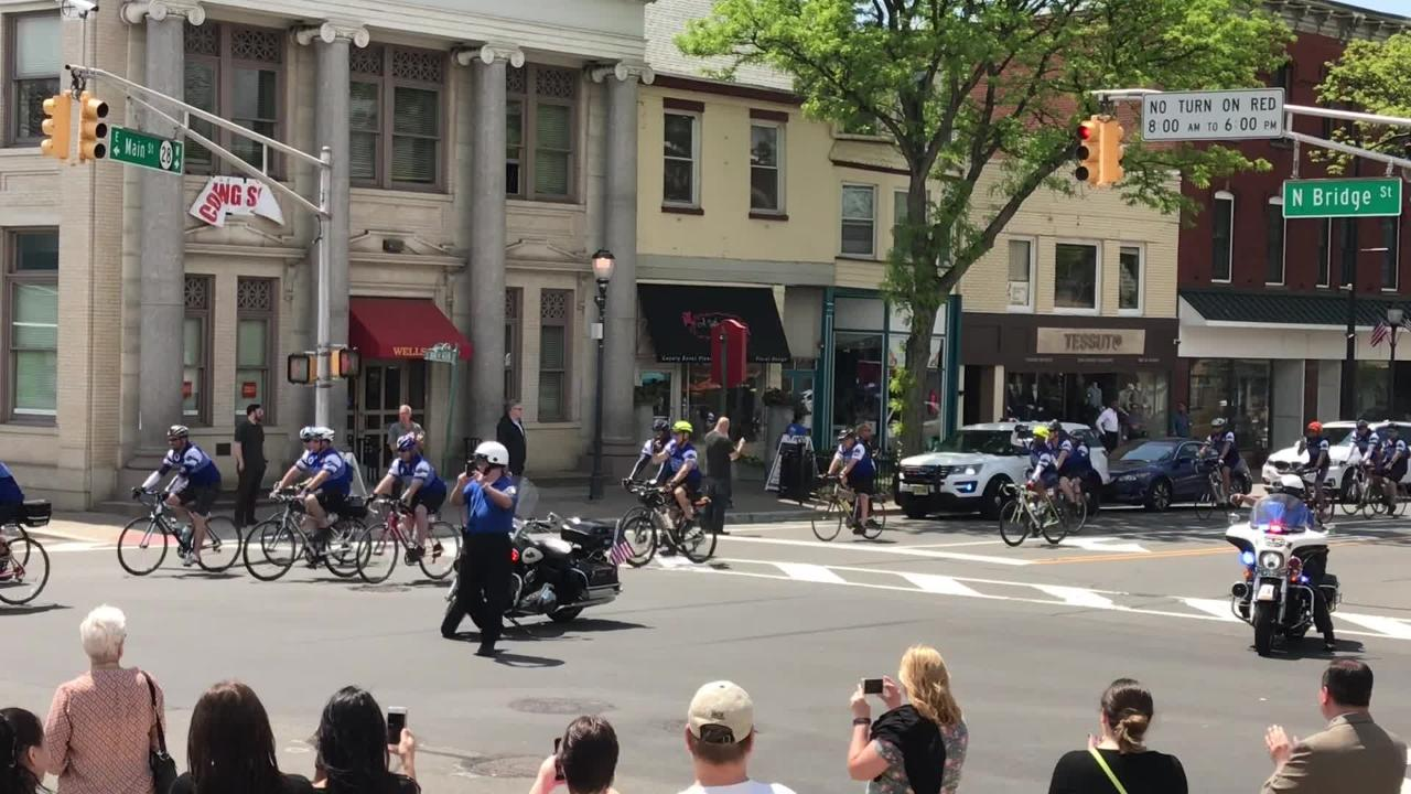 Hundreds of law enforcement officials rode through Somerville during the 2018 Police Unity Tour.