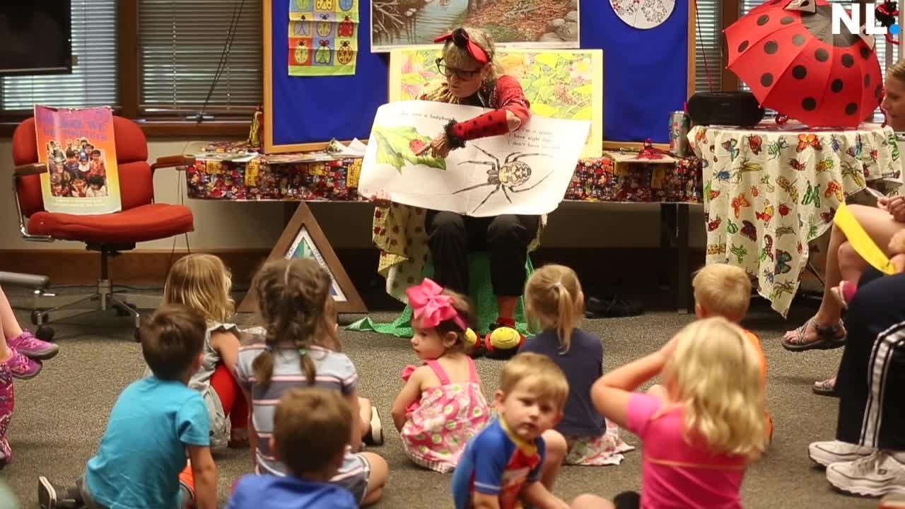 Ms. Ladybug celebrates 15 years of telling story's at the Nature Center.
