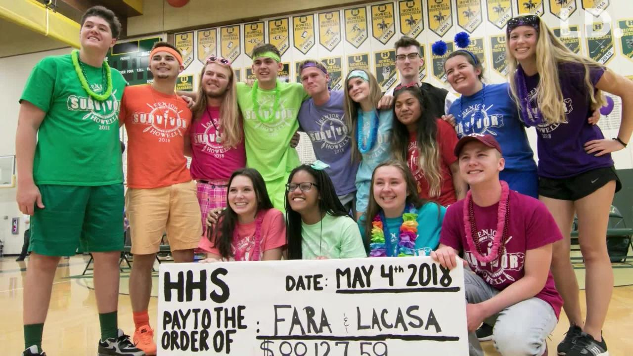 Howell's Senior Survivor fundraiser raised over $88,000 for LACASA and FARA