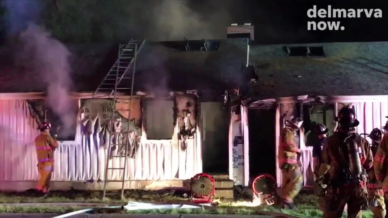 Watch: Fire in Salisbury damages building