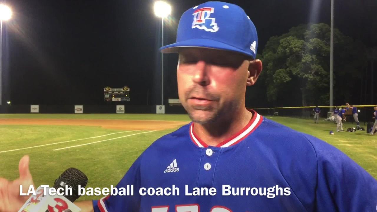 Louisiana Tech baseball coach Lane Burroughs discusses coaching his first game at Grambling State.