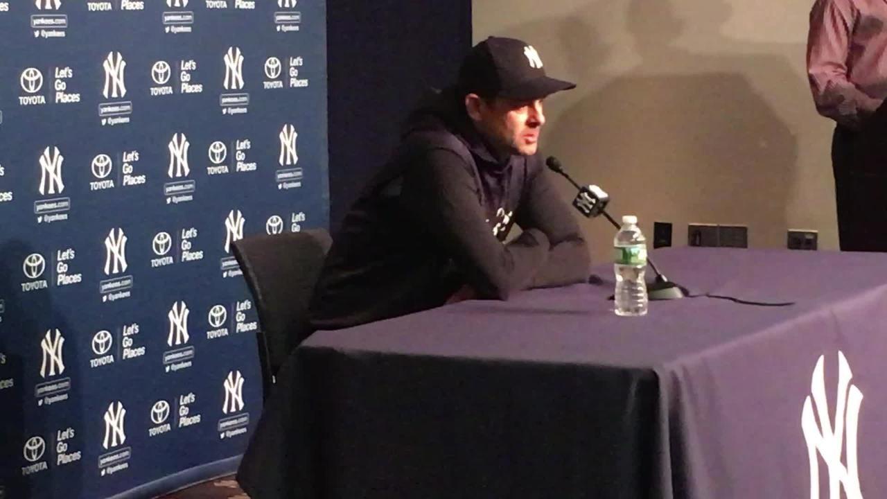 New York Yankees manager Aaron Boone talks about Brett Gardner's spark.