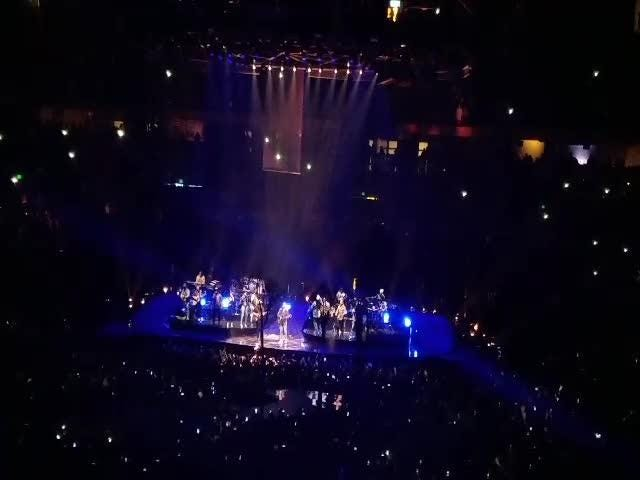 """Chris Stapleton joined Justin Timberlake at the latter's Bridgestone Arena concert for a performance of """"Say Something."""""""