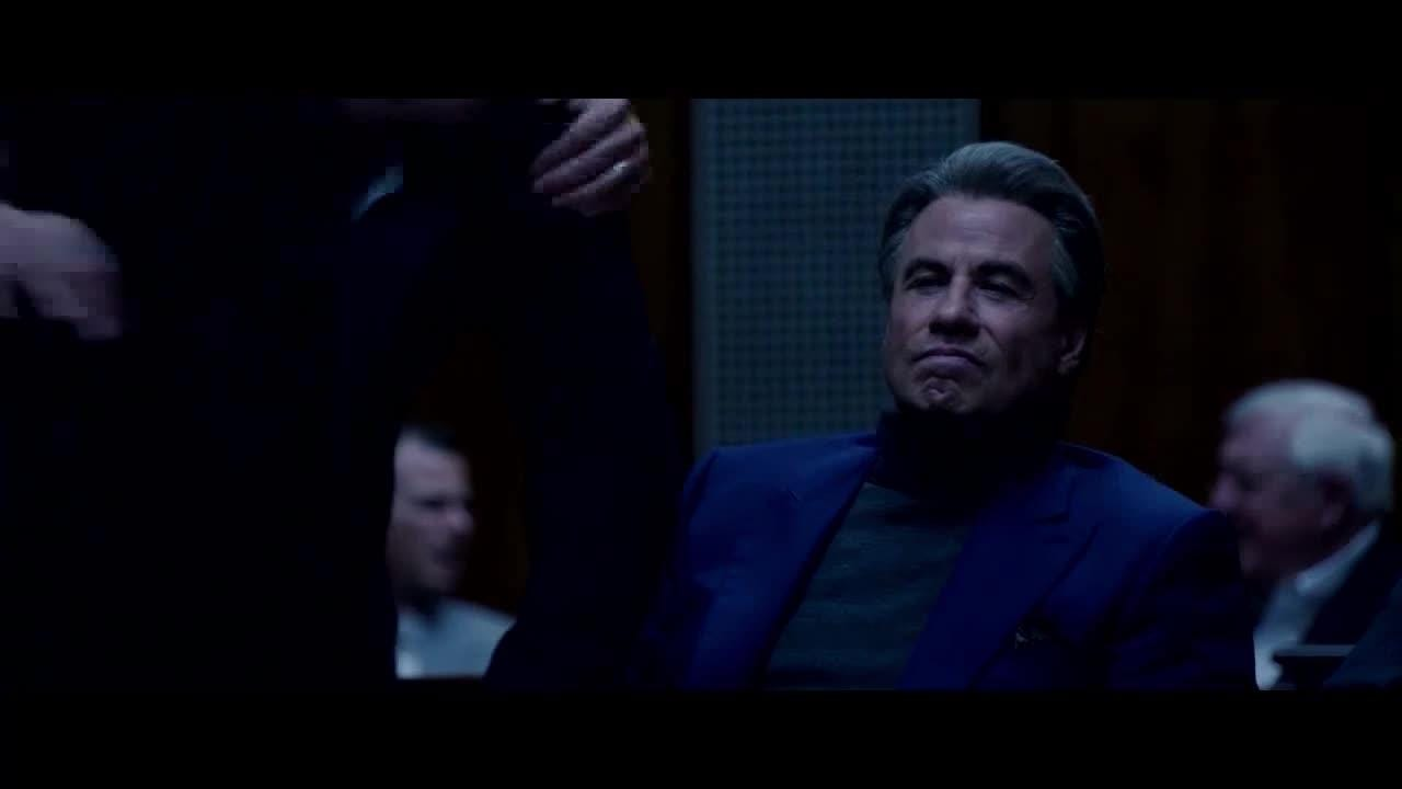 John Gotti (John Travolta) learns a friend is an FBI informant and gives him a cold reception in court in an exclusive clip from mob drama 'Gotti.'