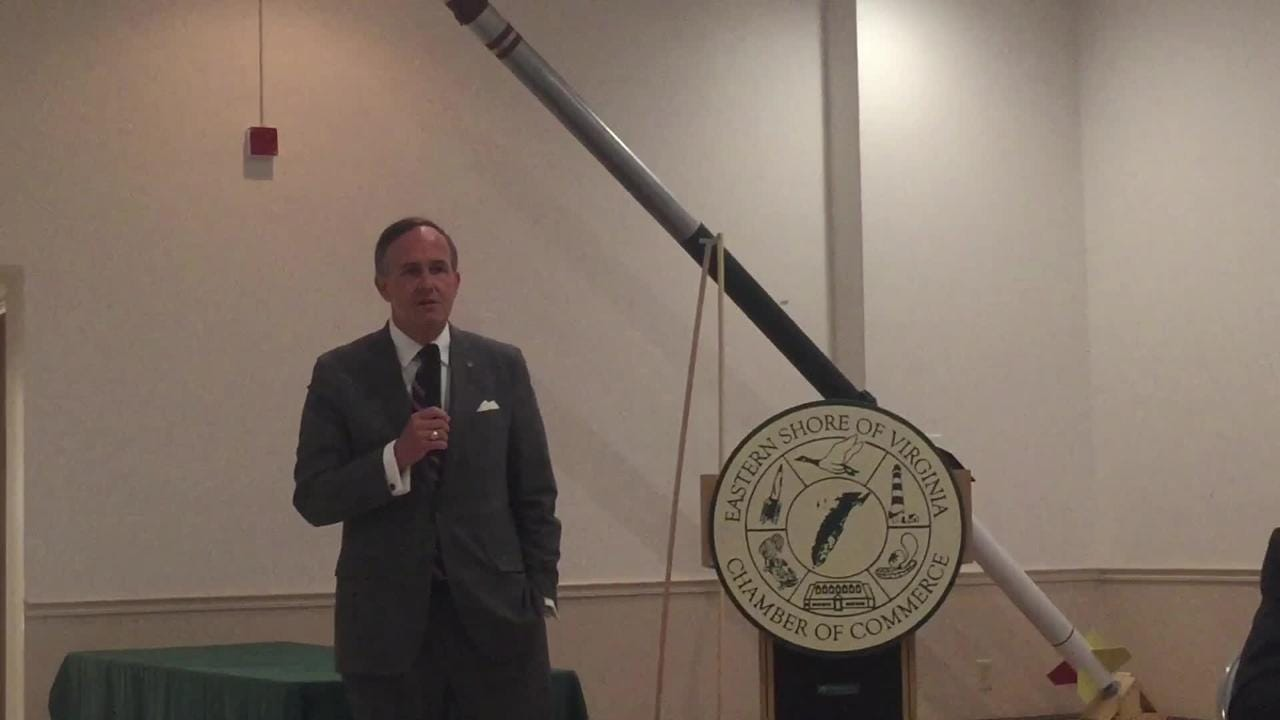 Sen. Lynwood Lewis talked about the Virginia budget at Eggs and Issues.