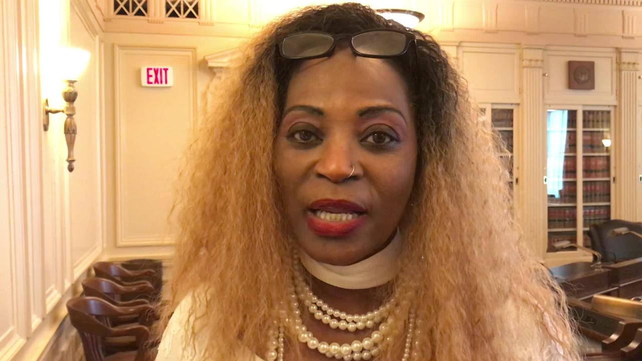 Brigitte Nzali, of Gloucester Township, finds it unjust to be required to have a cosmetology license for a skill that cosmetology schools don't teach.