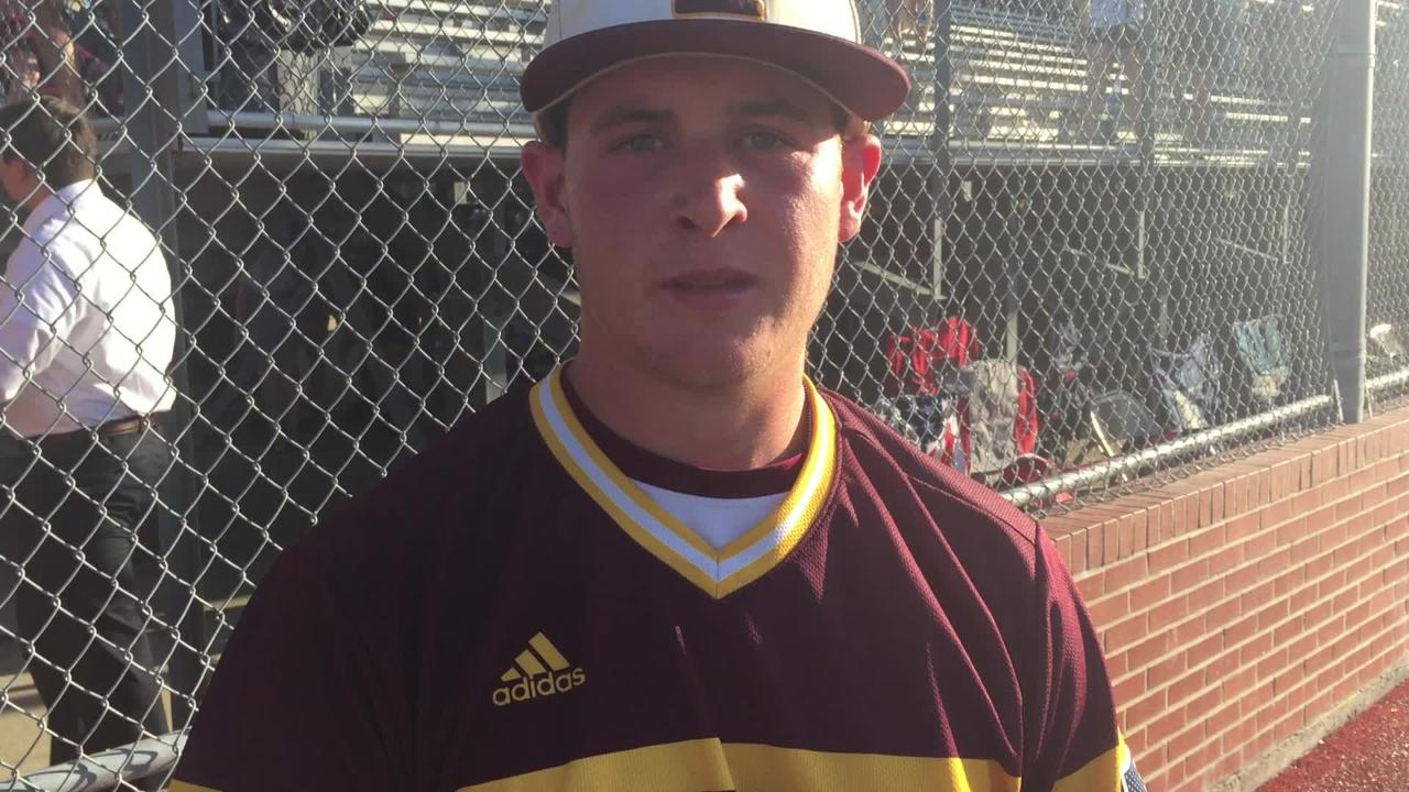 Iota pitcher Hunter Wriborg shines on mound and at plate in semifinals