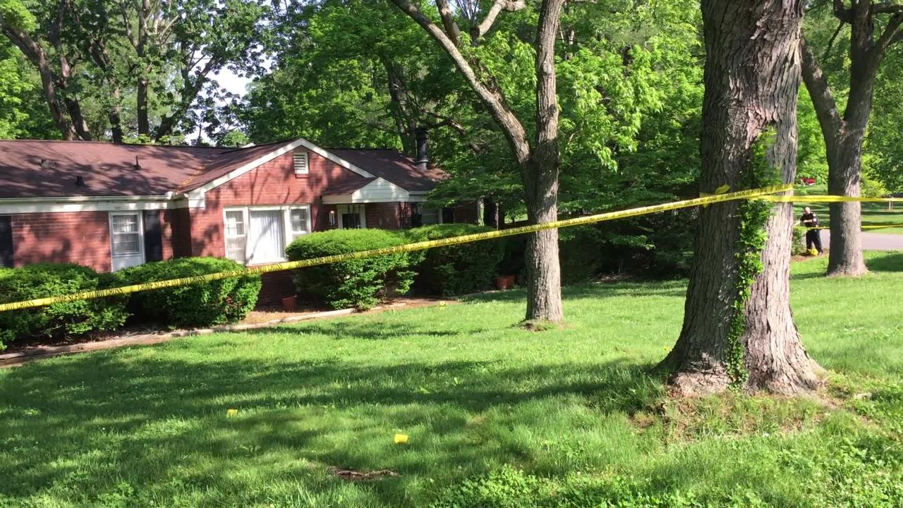 A group of men shot a resident and ransacked the home early in the morning.