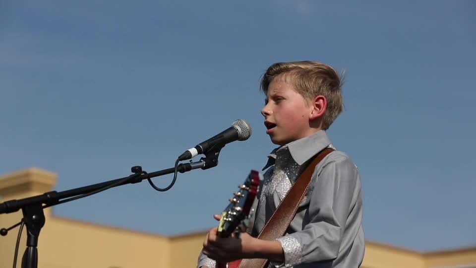 The viral sensation Mason Ramsey, aka the Walmart yodeling kid, performed at a Louisville Walmart