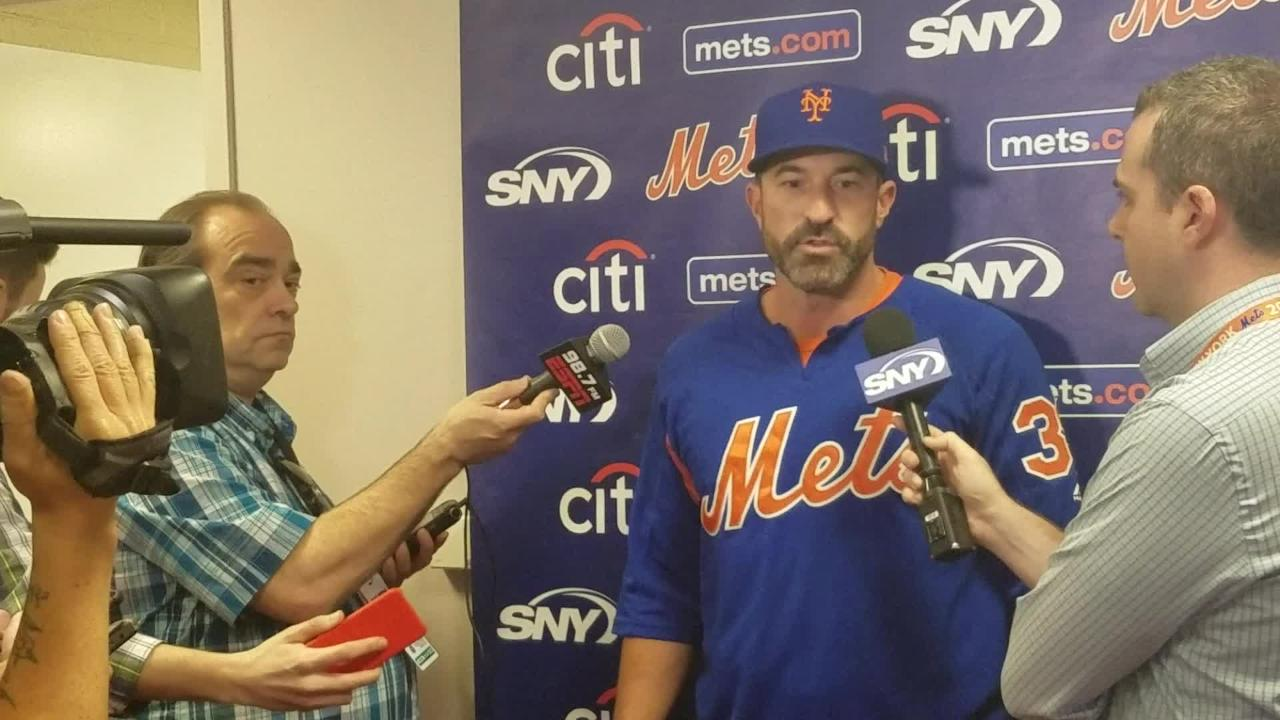 NY Mets manager Mickey Callaway on Jason Vargas being skipped