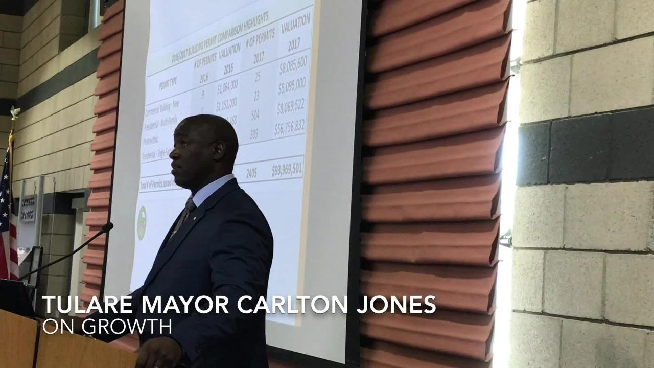 Tulare Mayor Carlton Jones provides annual update on the city's economic development, growth