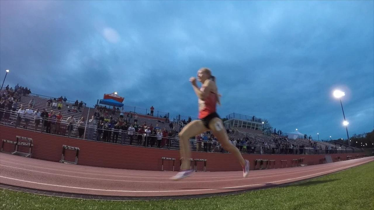North Rockland's Katelyn Tuohy set the all-time U.S. girls high school record in the 3,200 meters at the Loucks Games in White Plains.
