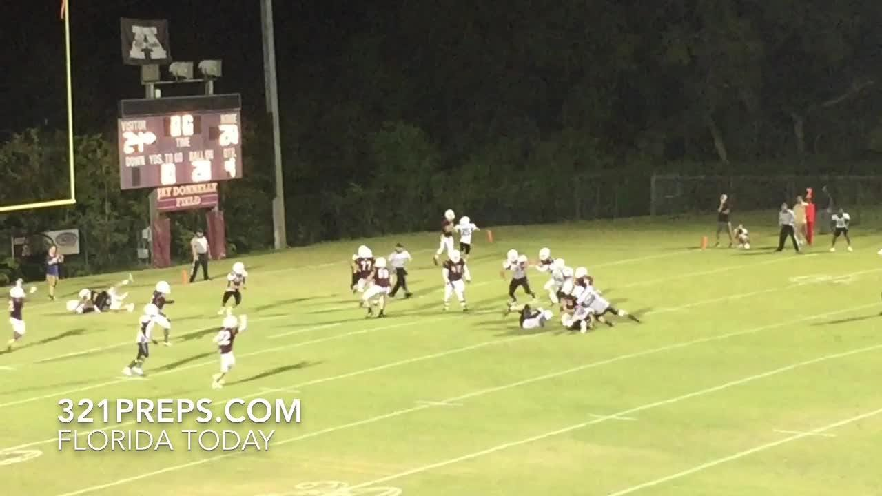Astronaut won, 26-24, on ball fumbled forward and recovered in end zone. Video by Brian McCallum. Posted May 11, 2018.