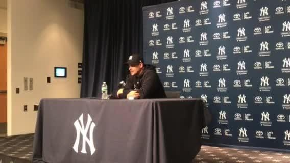 Yankees manager Aaron Boone discusses starter Sonny Gray's start.