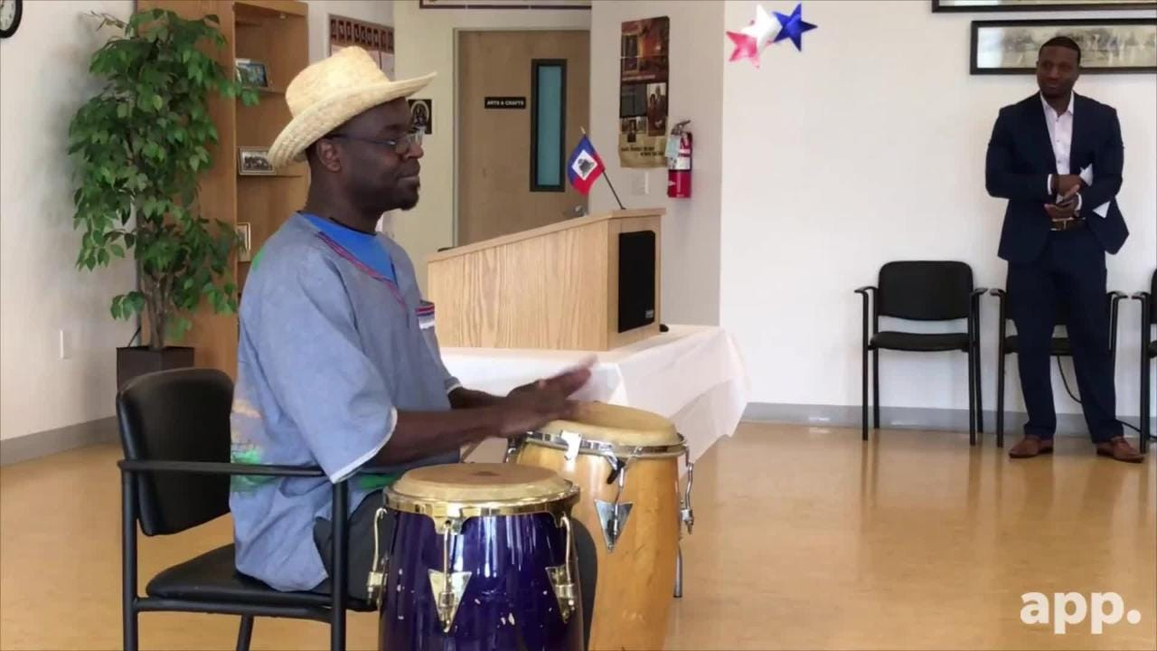 Solo conga player O-dson Pierre-Louis shares some history about the instrument and performs at the Celebration of Haitian Heritage Month.