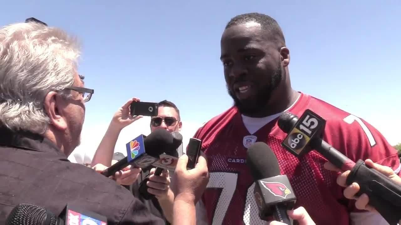 Offensive lineman Korey Cunningham talks about practicing in the desert heat, fear of flying and living a dream.