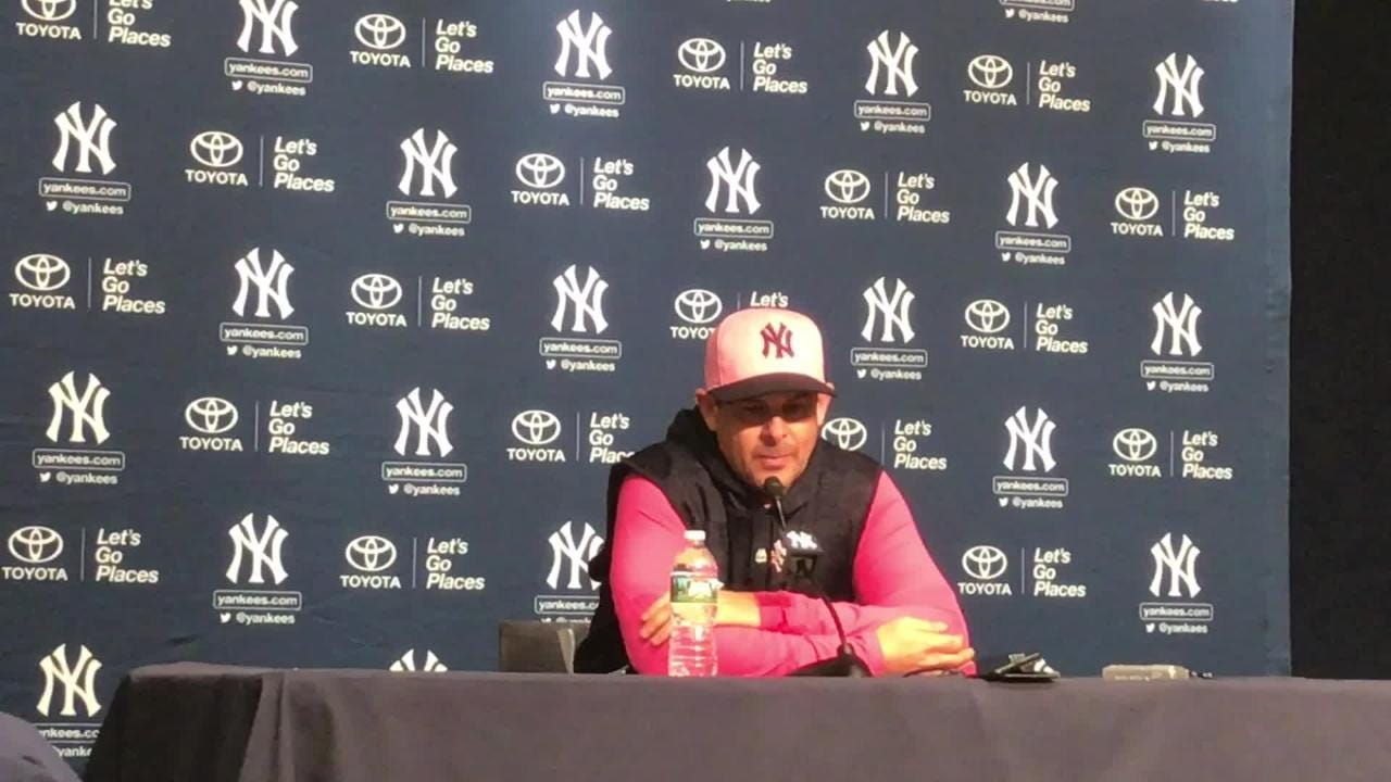 """The Yankee manager expects """"massive production"""" to come from his outfielder."""