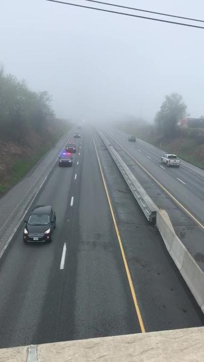 On Sunday morning, a police procession returned the body of York City Police Officer Alex Sable from Baltimore County to York County.