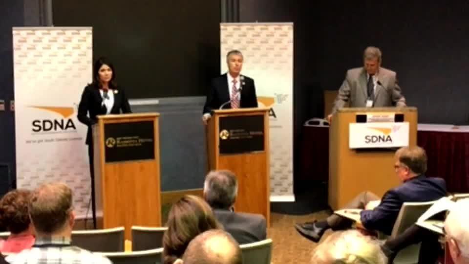 Gubernatorial candidates Kristi Noem and Marty Jackley discussed crime in South Dakota at a recent debate.