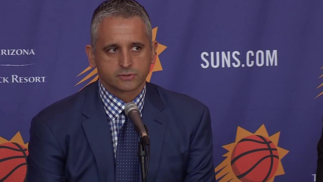 The Phoenix Suns introduce their new head coach Igor Kokoskov during a press conference on May 14, 2018.